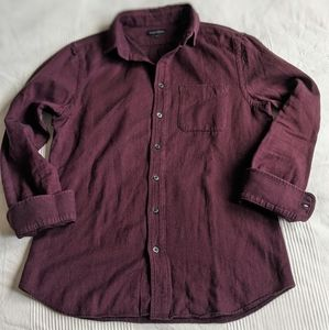 wings+horns Casual Button Down Long Sleeve Top